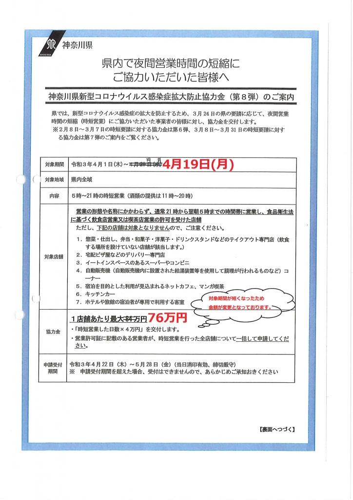 神奈川 協力 金